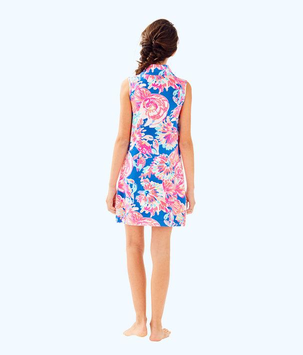 Girls Mini Sleeveless Skipper Shift Dress, Bennet Blue Bay Dreamin, large