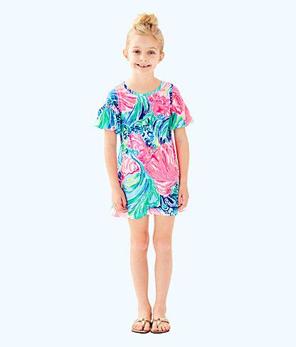 Girls Mini Lindell Dress, Multi Beach Please, large