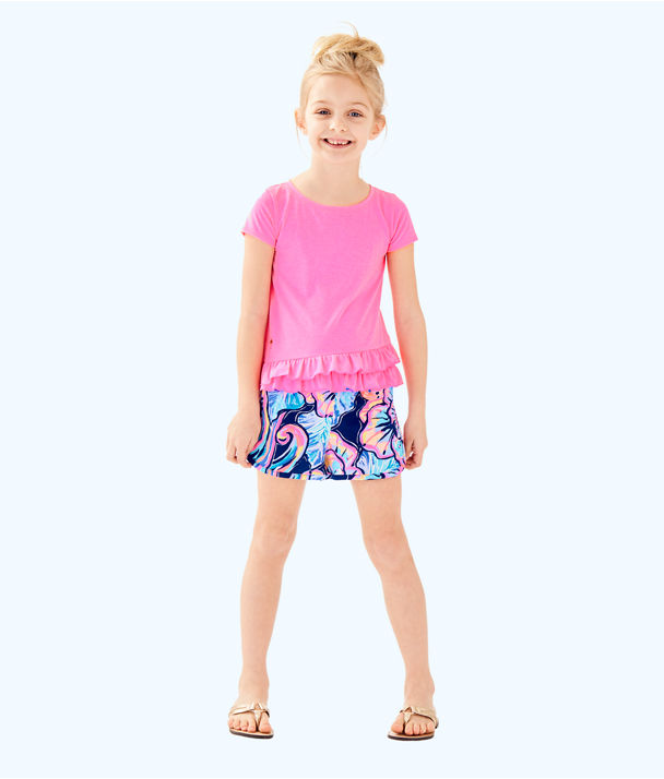 Girls Leightan Top, Pink Sunset, large