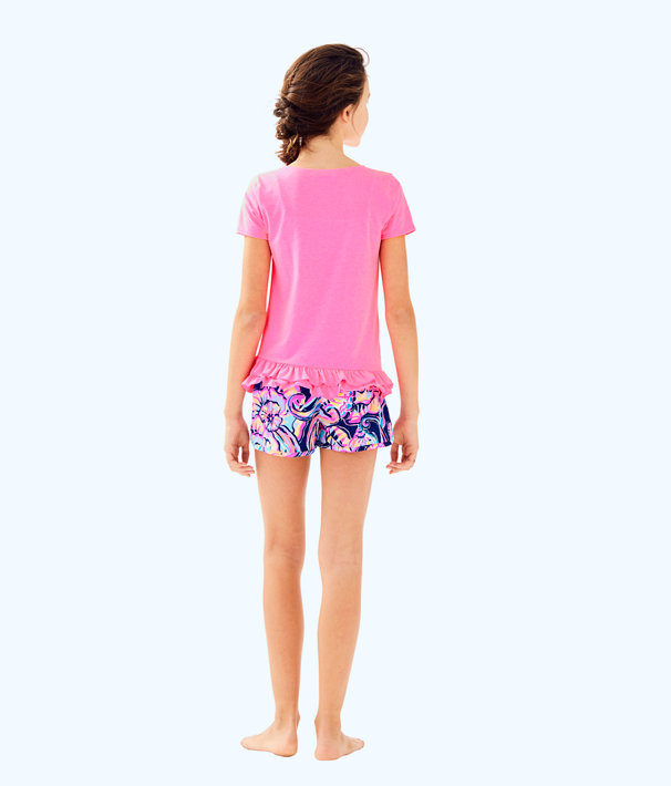 Girls Leightan Top, Pink Sunset, large