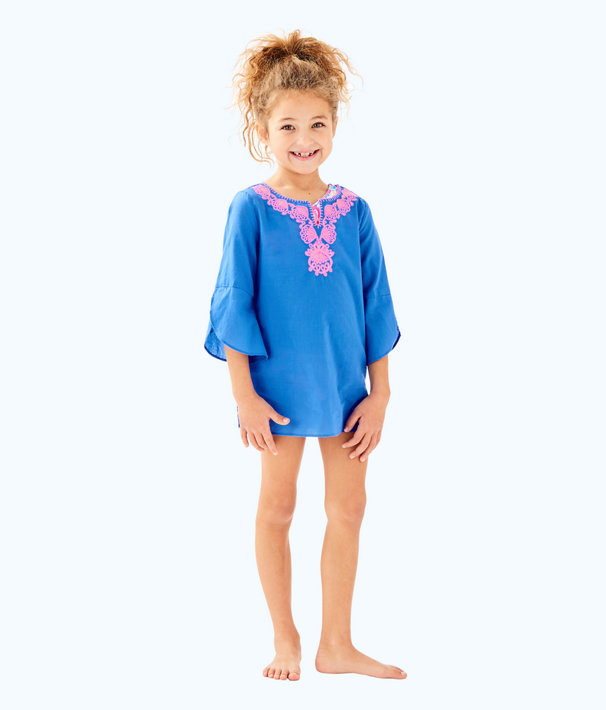 Girls Mini Piet Cover Up, Bennet Blue, large