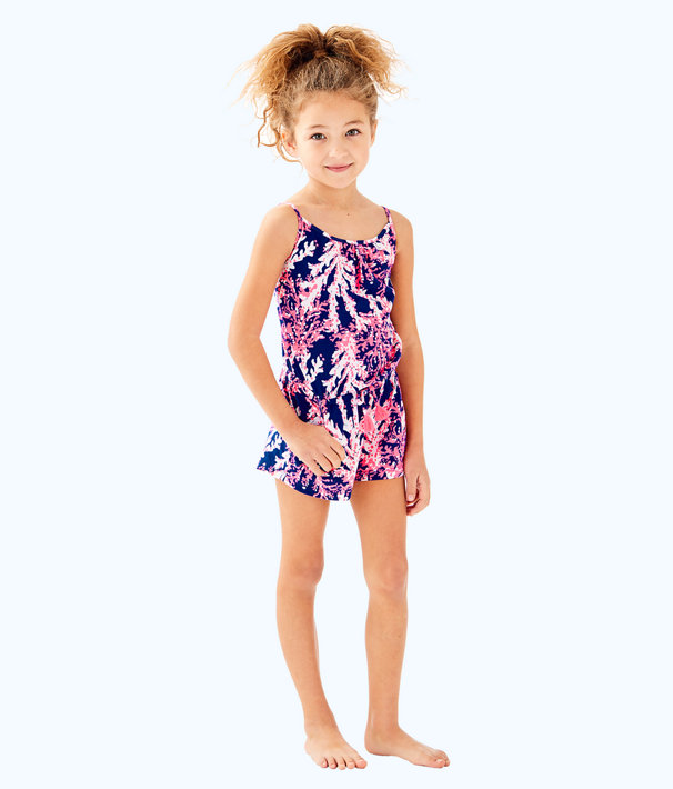 Girls Aleene Romper, Nauti Navy Beyond The Sea, large