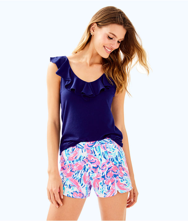 """5"""" Hazelle Stretch Short, Cosmic Coral Cracked Up, large"""