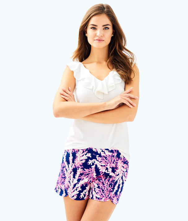 "5"" Hazelle Stretch Short, Nauti Navy Beyond The Sea, large"