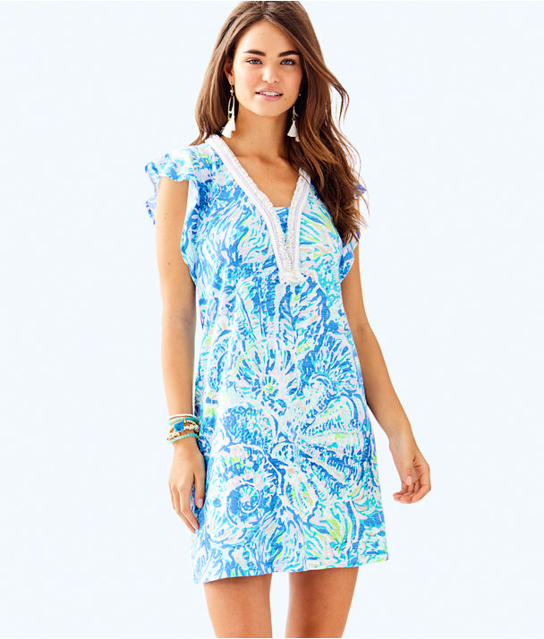Zandra Dress, Bennet Blue Salty Seas, large