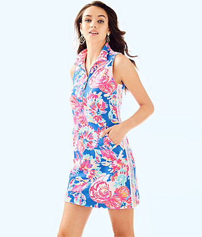 Skipper Sleeveless Dress, Bennet Blue Bay Dreamin, large