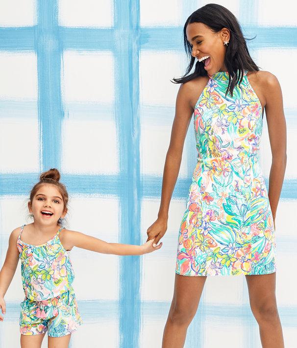 Krista Shift Dress, Multi Surf Gypsea Engineered Dress, large