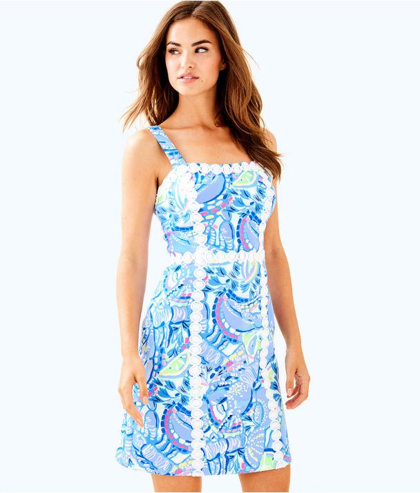 Janelle Shift Dress, Blue Peri Pinch Pinch, large