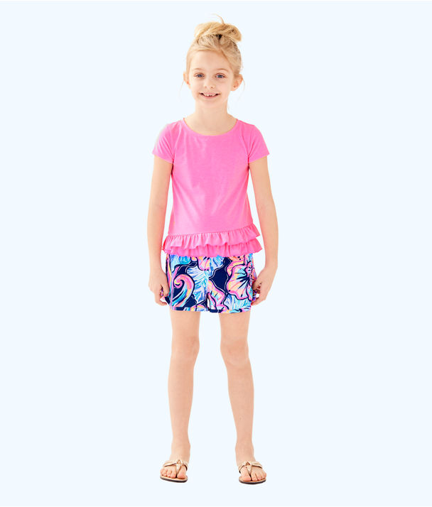 Girls Ceclie Short, Nauti Navy Boho Bateau, large