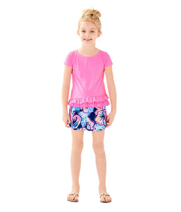 Girls Ceclie Short, Nauti Navy Boho Bateau, large