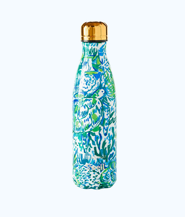 17 oz Swell Bottle, Bennet Blue Swell Race To The Wave, large