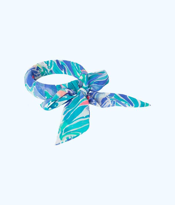 Fabric Wrapped Bangle, Bennet Blue Celestial Seas, large