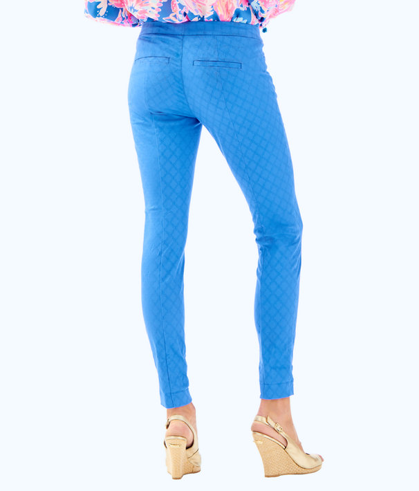 "29"" Kelly Textured Ankle Length Skinny Pant, Bennet Blue, large"