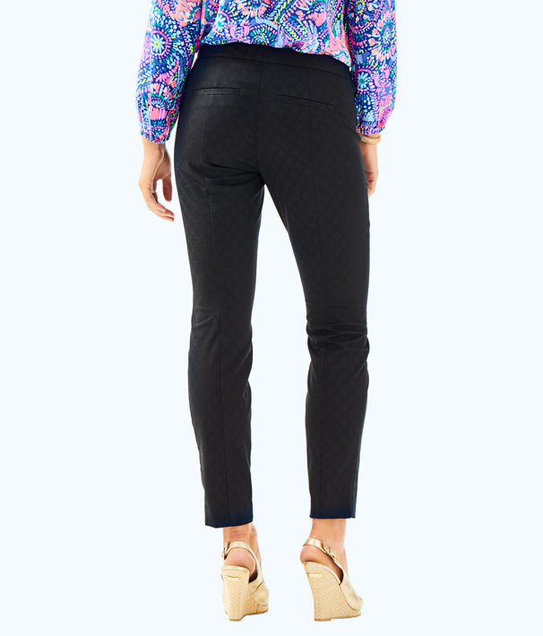 """29"""" Kelly Textured Ankle Length Skinny Pant, Onyx, large"""