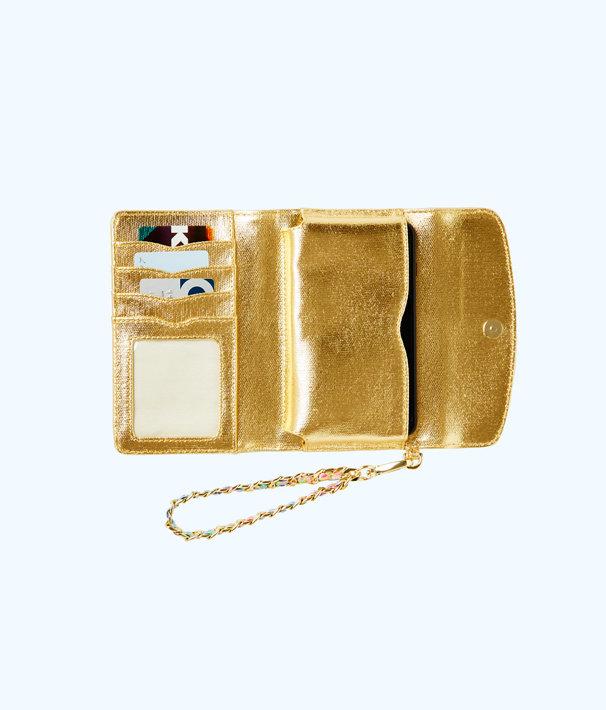 Bahama Wristlet, Gold Metallic, large