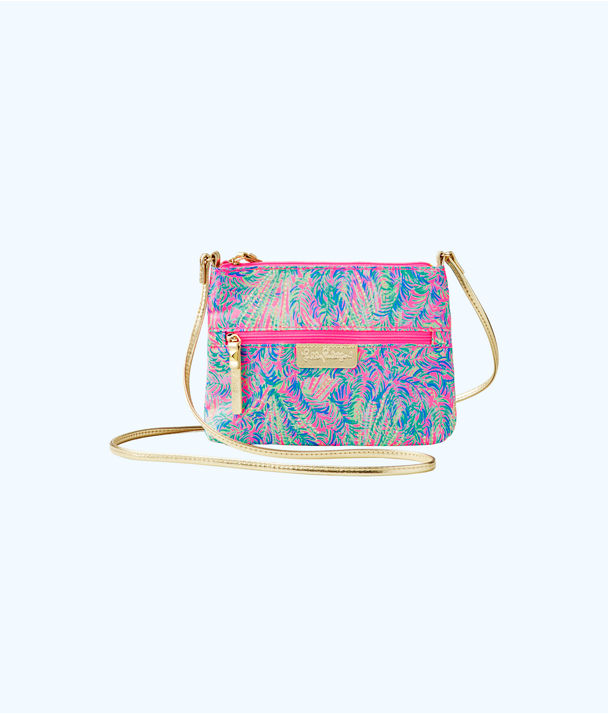 Zip It ID Crossbody Bag, Pink Sunset Coco Breeze, large