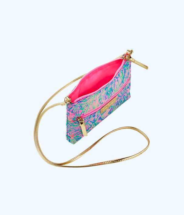 Zip It ID Crossbody Bag, Pink Sunset Coco Breeze, large