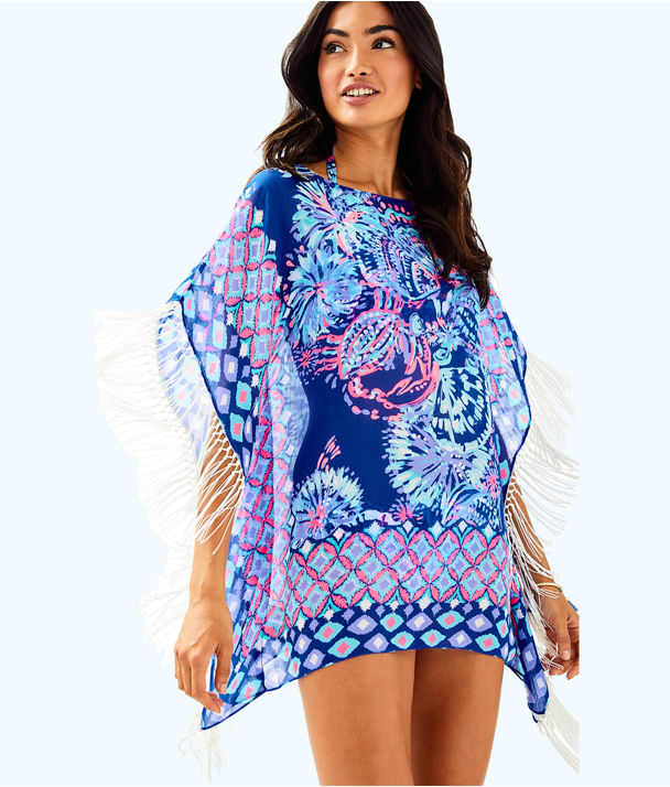 Ginette Coverup, Twilight Blue Gypsea Girl Engineered Coverup, large