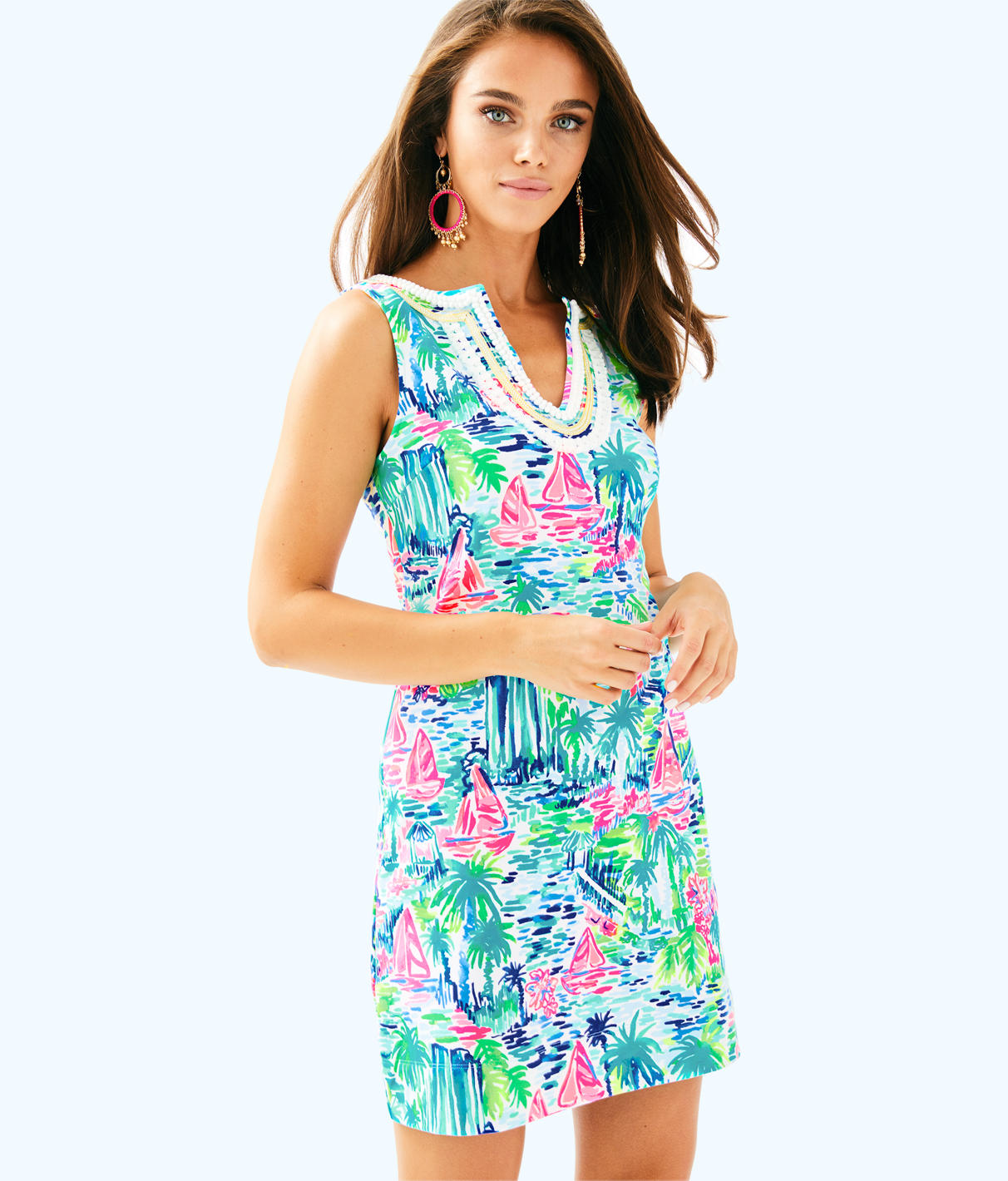 Lilly Pulitzer Lilly Pulitzer Womens Harper Stretch Shift Dress
