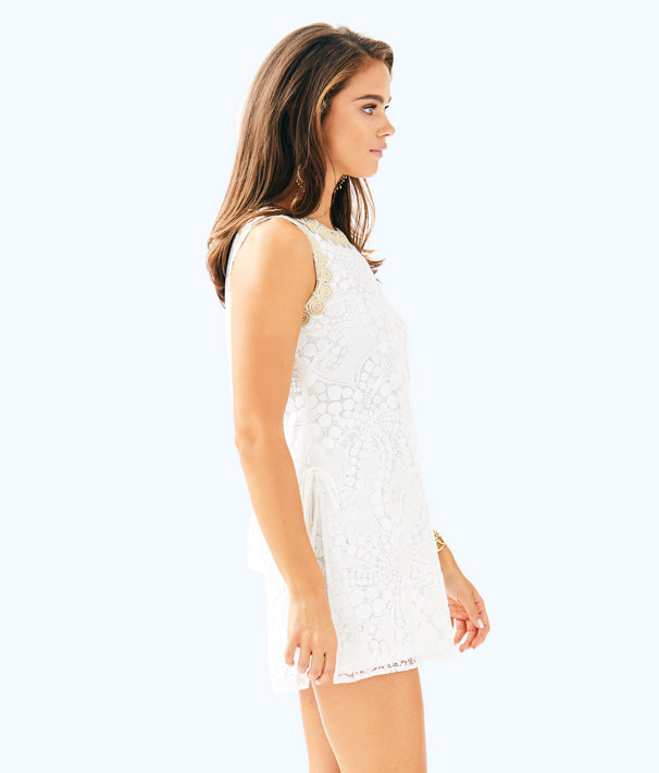 Donna Romper, Resort White Mocean Lace, large