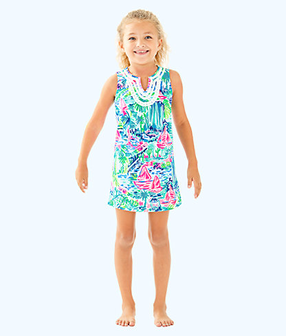 Girls Mini Harper Shift, Multi Salt In The Air, large
