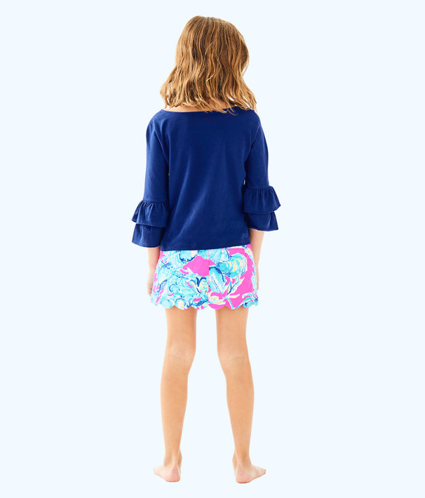 Girls Mazie Top, High Tide Navy, large