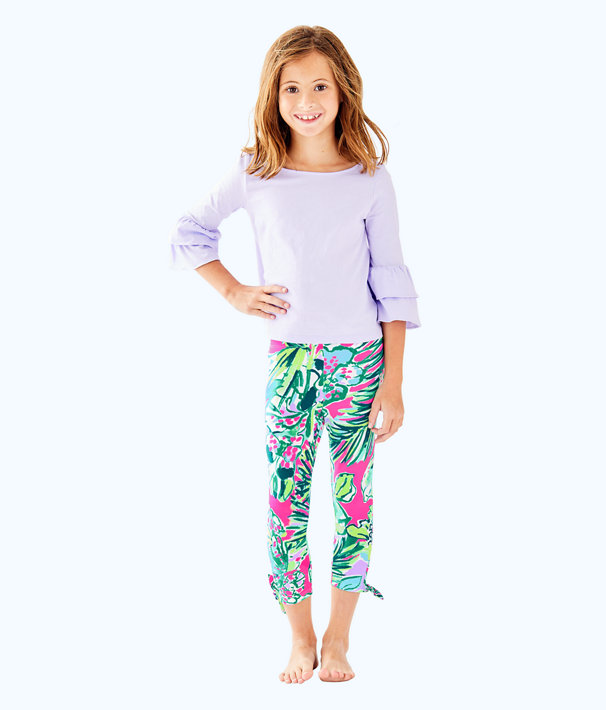 Girls Mazie Top, Light Lilac Verbena, large