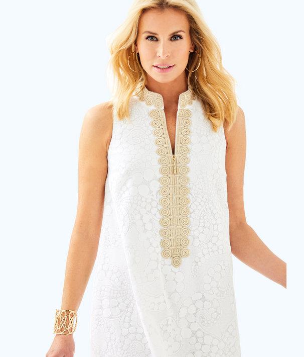 Jane Shift Dress, Resort White Mocean Lace, large