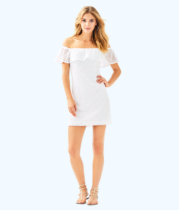 La Fortuna Dress, Resort White Gypsea Lace, large
