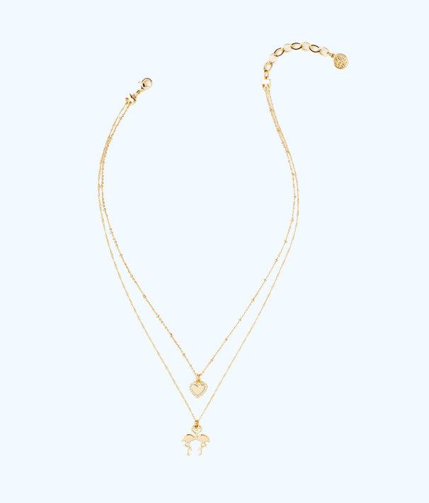 Via Amor Necklace, Gold Metallic, large