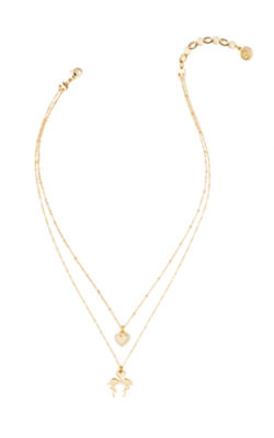 Via Amor Necklace, Gold Metallic, large