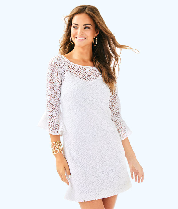 Fontaine Dress, Resort White Gypsea Lace, large