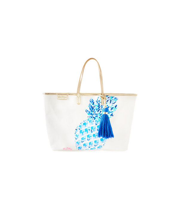 Bon Voyage Tote, Multi Toe In Engineered Motif Tote, large