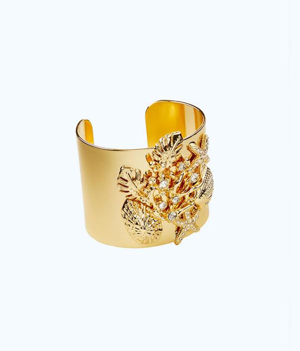 Beach Comber Cuff, Gold Metallic, large