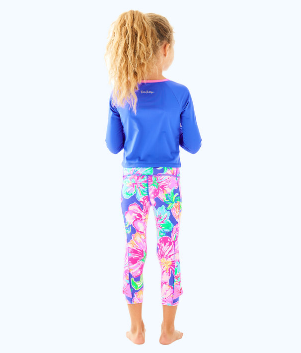 UPF 50+ Luxletic Girls Mini Sydney Sunguard, Beckon Blue, large