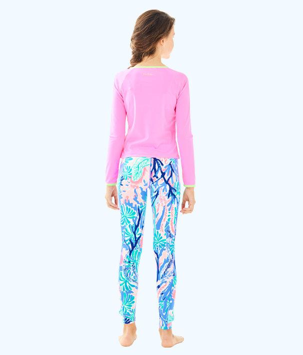 UPF 50+ Luxletic Girls Mini Sydney Sunguard, Pink Sunset, large