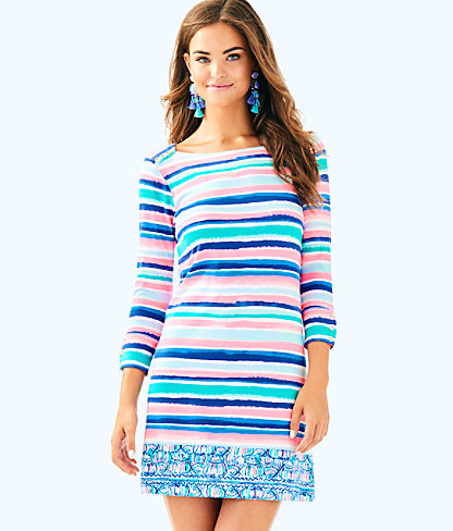 UPF 50+ Sophie Dress, Multi Sandy Shell Stripe Engineered Dress, large