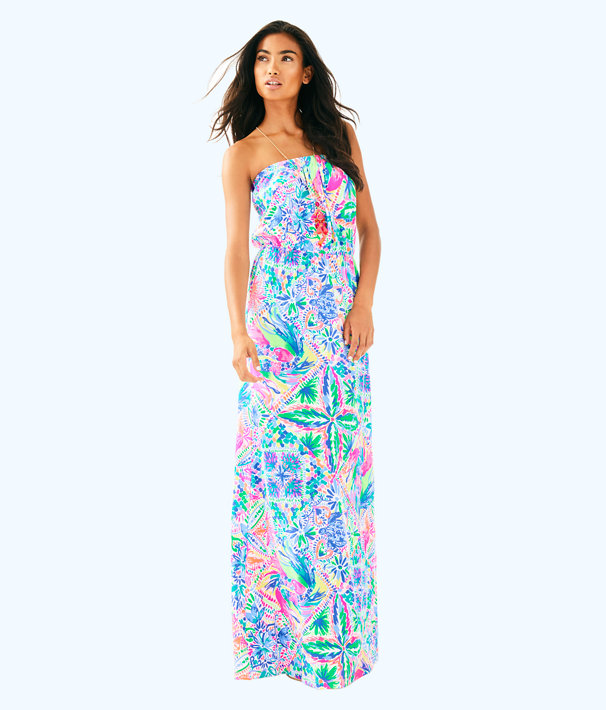 Marlisa Maxi Dress, Multi Dancing On The Deck, large