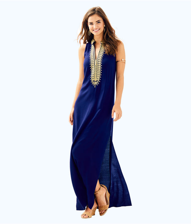 Jane Maxi Dress, True Navy, large