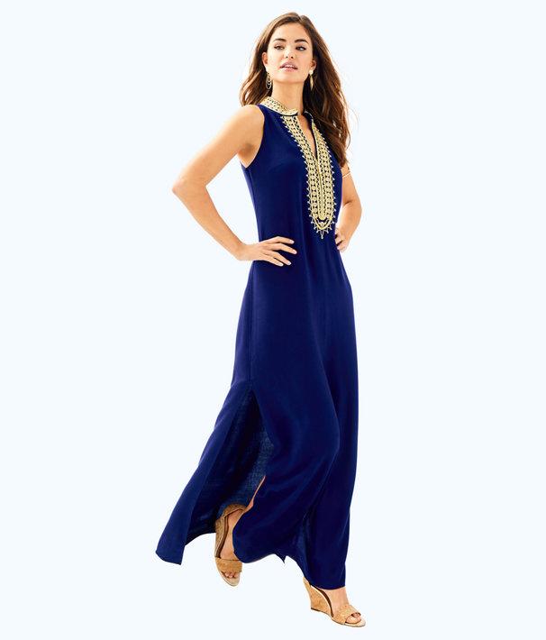 Jane Maxi Dress, True Navy, large
