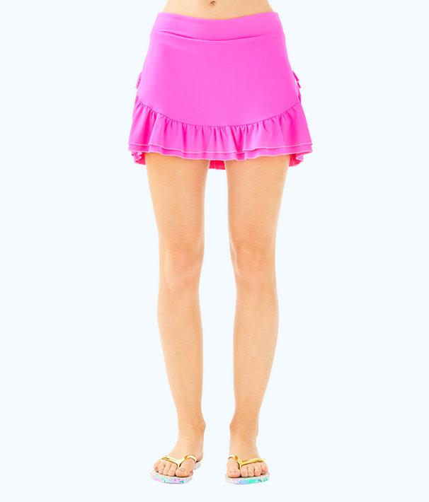 UPF 50+ Luxletic Emalee Meryl Nylon Skort, Raz Berry, large