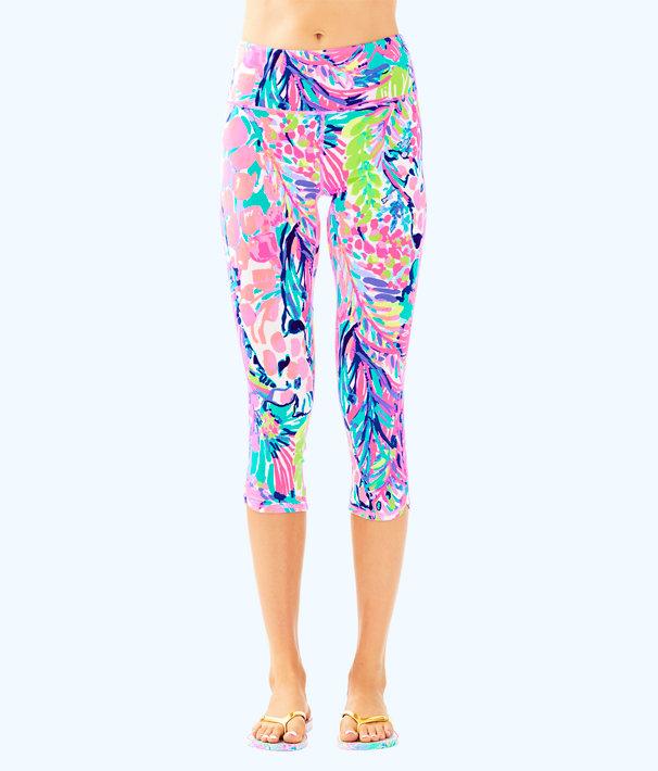 "UPF 50+ Luxletic 21"" High Rise Weekender Cropped Pant, Multi Gumbo Limbo, large"
