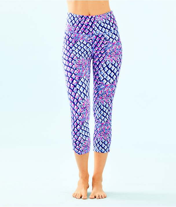 "UPF 50+ Luxletic 21"" High Rise Weekender Cropped Pant, Royal Purple Pop Up Toe In, large"
