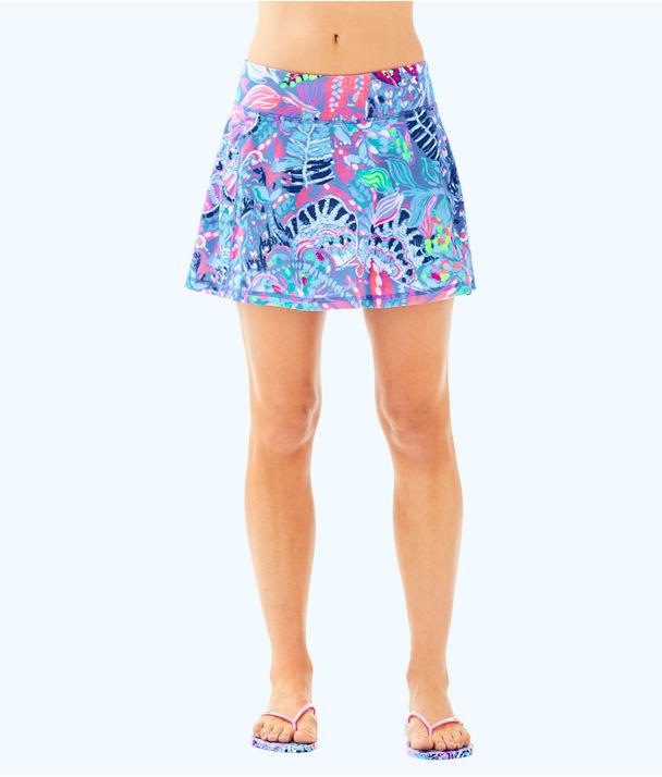 UPF 50+ Luxletic Aila Meryl Nylon Skort, Multi Fantasy Garden, large