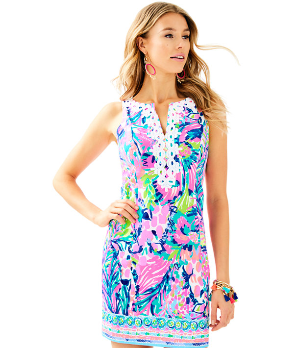 Gabby Shift Dress, Multi Gumbo Limbo Engineered Gabby Shift, large