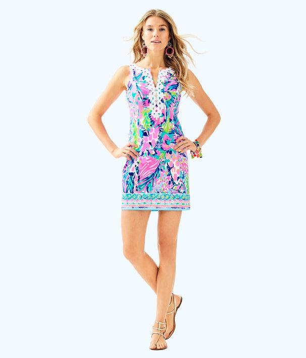 Gabby Shift Dress, Multi Gumbo Limbo Engineered Gabby Shift, large