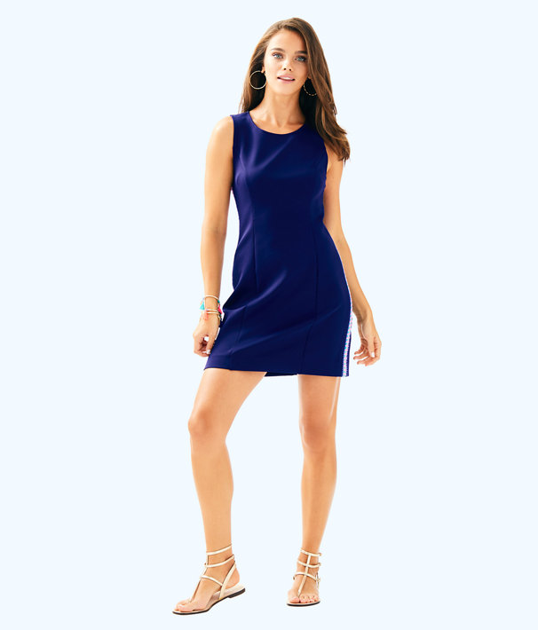 Mila Shift Dress, True Navy, large