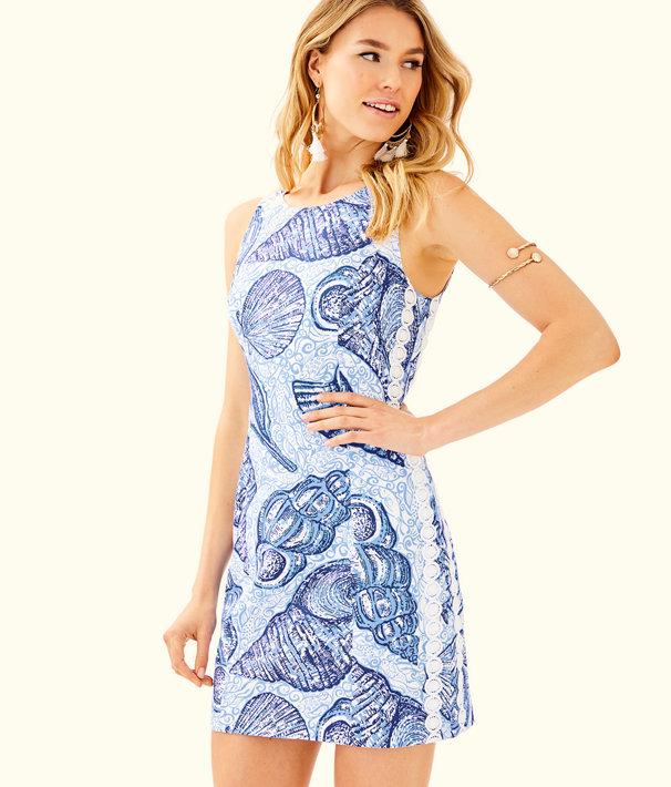 Mila Shift Dress, Blue Peri Pop Up Stuffed Shells, large