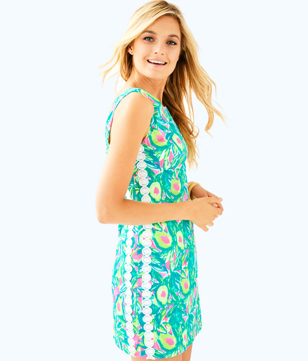 Mila Shift Dress, Pink Sunset Guac And Roll, large