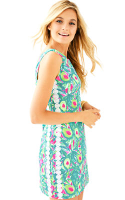 Mila Shift Dress, Pink Sunset Guac And Roll, large